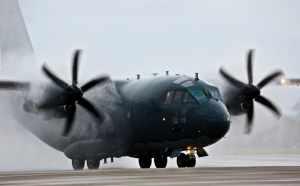 Al treilea transport aerian cu echipamente medicale din Coreea de Sud, cu o aeronavă C-17 Globemaster III.