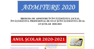 Admiterea la liceu – a apărut BROȘURA cu numărul de locuri din București. Mediile de admitere Model de declarație