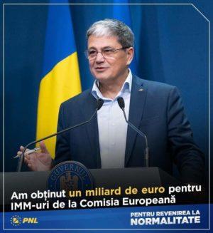 Ministrul Marcel Ioan Boloș: Un miliard de euro alocat relansării operatorilor economici