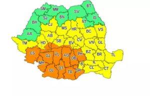 ATENȚIONARE METEO COD PORTOCALIU VALABILĂ PENTRU JUDEȚUL DÂMBOVIȚA