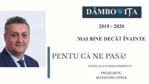 ALEXANDRU OPREA, RAPORT DE ACTIVITATE LA UN AN DE CÂND A REVENIT LA CONDUCEREA CONSILIULUI JUDEȚEAN DÂMBOVIȚA