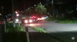 """VIDEO-Aleea Mănăstirii Dealu: """"Liniuțele"""" de sâmbătă seara oprite de polițiști!"""