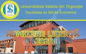 Ultimele zile de admitere la Facultatea de Științe Economice din Târgoviște