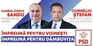 Primarul comunei Voinești candidează independent însă îl susține pe Corneliu Ștefan (PSD) la CJD