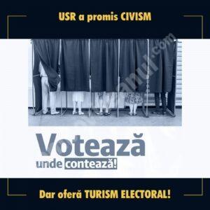 """Au căzut măștile la USR! Partidul """"de viitor"""" se întoarce la turism electoral!"""