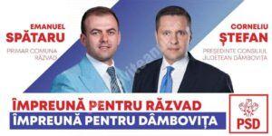 Din spital, Emanuel Spătaru, primarul comunei Răzvad, îl sprijină pe Corneliu Ștefan la CJD!
