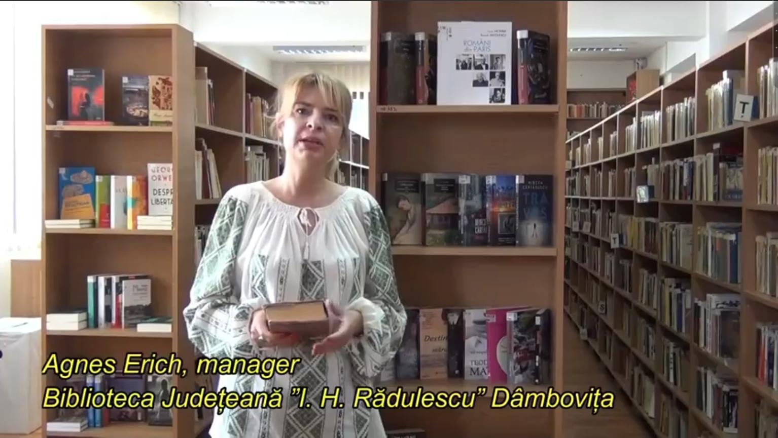 """VIDEO – Biblioteca Județeană """"I.H. Rădulescu"""" Dâmbovița se alătură Campaniei: Citește românește!"""