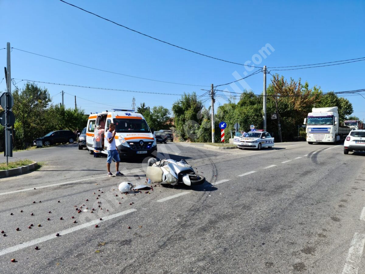 Motociclist accidentat la Valea Voievozilor
