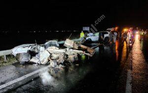 TERIBIL ACCIDENT PE AUTOSTRADA A1