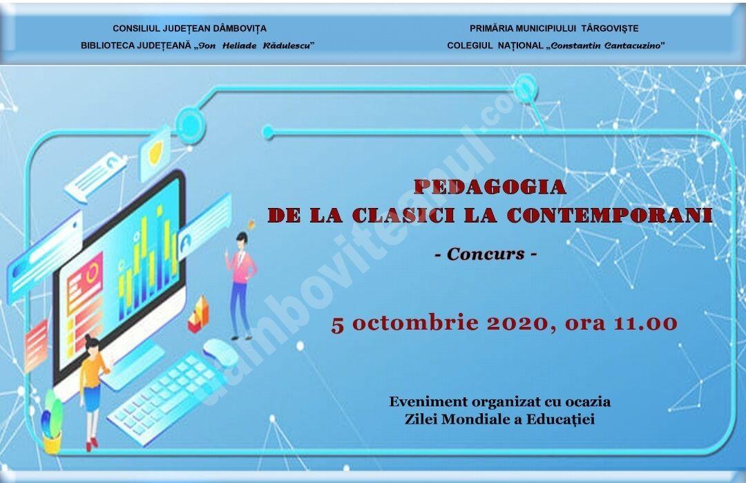 """You are currently viewing Concurs la Biblioteca Județeană I. H. Rădulescu – """"Pedagogia – de la clasici la contemporani""""."""