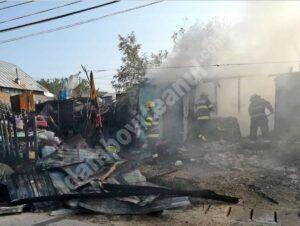 Dâmbovița: Incendiu izbucnit la o casă din comuna Iedera