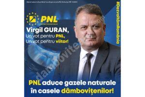 """Virgil Guran (PNL), anunț important: """"Aducem gazele naturale în casele dâmbovițenilor"""""""