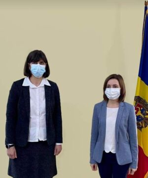 Maia Sandu s-a întâlnit, la Bruxelles, cu Laura Codruța Kövesi