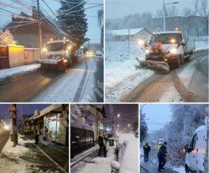 Zăpada nu a creat probleme în Târgoviște. Vezi unde poți suna în caz de urgență!