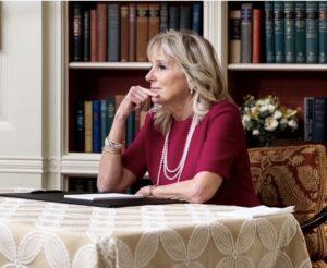 Jill Biden a găzduit primul său eveniment în calitate de Prima Doamnă, o videoconferință cu cadrele didactice