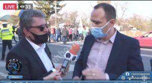 DN 71 blocat de protestatarii care cer salvarea COS Târgoviște și continuarea lucrărilor de modernizare si extindere a DN 71