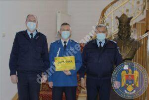 """Un jandarm dâmbovițean, la încheierea mandatului de onoare în instituția """"Oamenilor de arme"""""""