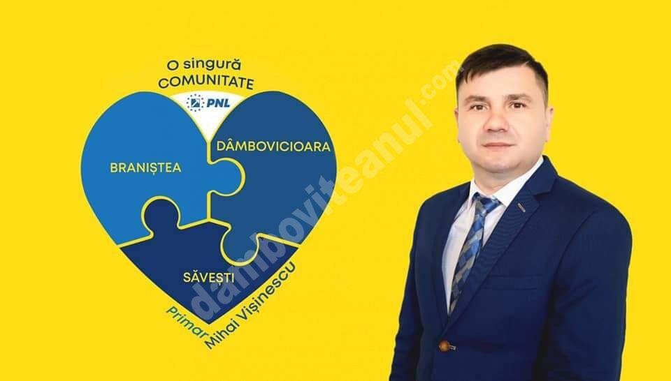 Președintele PNL Braniștea, Mihai Vișinescu, vrea să-și asume conducerea comunei