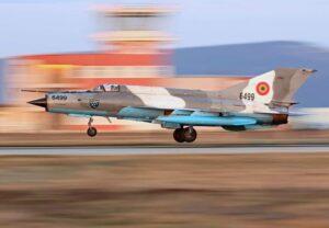 Aeronavă MiG 21 LanceR, prăbușită în județul Mureș