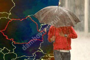 Se strică vremea, ne așteaptă zile cu ploi torențiale și temperaturi scăzute