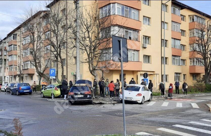 Accident rutier într-o intersecție din municipiul Târgoviște!