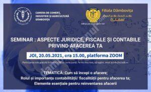 Seminar, privind aspectele legale ale unei afaceri, organizat de Camera de Comerț Dâmbovița