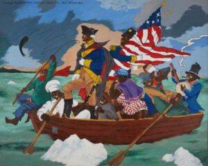 Un tablou controversat,  în care președintele George Washington este portretizat ca afro-american, a fost cumpărat de Muzeul de Arte Vizuale Lucas din Los Angeles