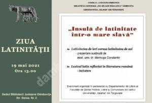 """Manifestări dedicate Zilei Latinităţii, la Biblioteca Județeană """" I. H. Rădulescu"""" din Târgoviște"""