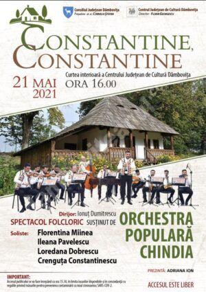 Constantine, Constantine… spectacol folcloric la Centrul Județean de Cultură Dâmbovița