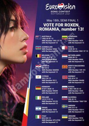 România a ratat calificarea în finala Eurovision 2021