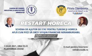 Read more about the article Camera de Comerț Industrie și Agricultură Dâmbovița organizează un seminar în sprijinul antreprenorilor din turism si Horeca