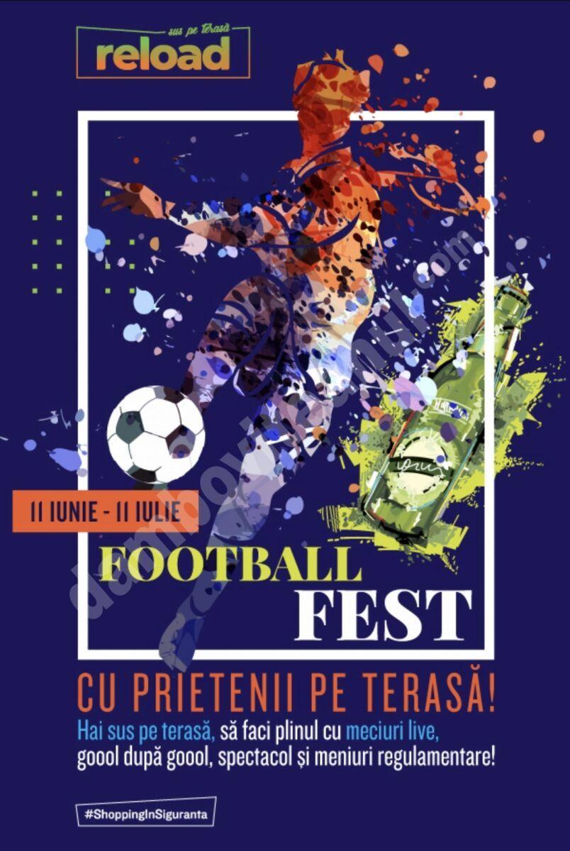 Între 11 iunie – 11 iulie, cele mai importante meciuri de fotbal ale anului vin în direct sus pe terasa Ploiești Shopping City