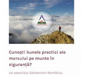 Echipa Salvamont îi invită pe iubitorii muntelui să-și verifice cunoștințele despre măsurile necesare pentru drumeții în siguranță