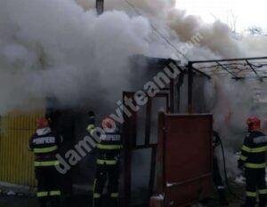 DÂMBOVIȚA: Incendiu la o gospodărie, cauzat de o defecțiune la centrala termică! Pompierii au intervenit!