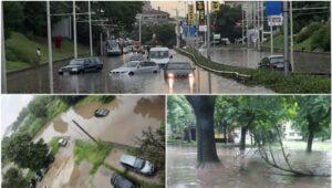 Inundații puternice la Ruse, Bulgaria