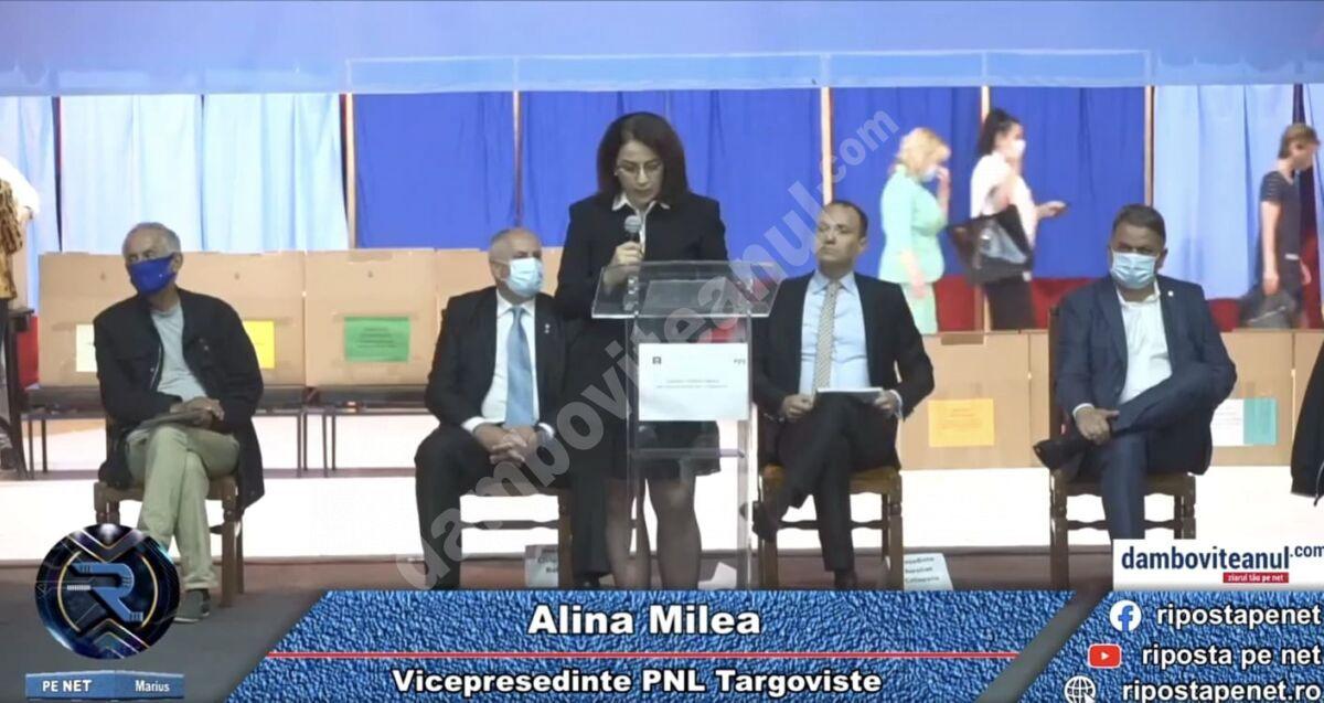 You are currently viewing Val de critici al candidatei liberale la șefia PNL Târgoviște, Alina Milea, față de colegii ei de partid