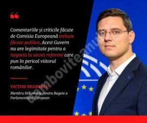 Read more about the article Un nou val de critici dure al Comisiei Europene, faţă de PNRR-ul României