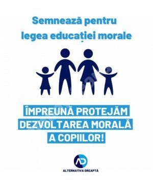 """Read more about the article Propunere legislativă, pentru educația morală, a formațiunii """"Alternativa dreaptă"""""""