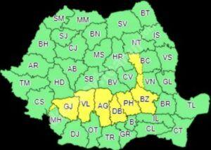 Read more about the article METEO, 08 IULIE 2021: COD GALBEN DE VREME INSTABILĂ, CU AVERSE ȘI DESCĂRCĂRI ELECTRICE ÎN JUDEȚUL DÂMBOVIȚA!