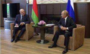 Read more about the article Aleksandr Lukaşenko cere sprijin lui Putin pentru a face față sancţiunilor Uniunii Europene