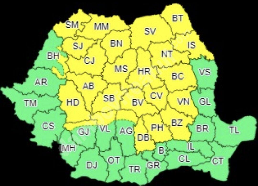 You are currently viewing DÂMBOVIȚA, 21 IULIE 2021: AVERTIZARE COD GALBEN DE VIJELII ȘI GRINDINĂ!