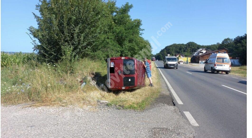 You are currently viewing Bărbat cu alcoolemie peste limita legală, s-a răsturnat cu mașina, la Dragomirești!