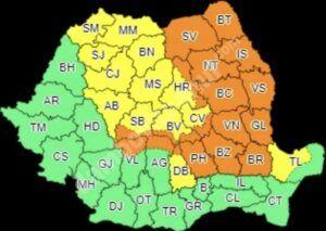 Read more about the article AVERTIZARE METEO: COD PORTOCALIU DE VREME REA PENTRU ZONA MONTANĂ A JUDEȚULUI DÂMBOVIȚA