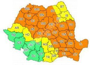 Read more about the article Avertizări de furtuni severe, în peste jumătate de ţară, Dâmbovița, sub cod galben