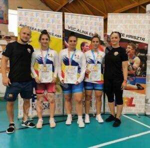 Read more about the article Trei luptătoare de la CSM Târgoviște au devenit campioane ale României la U23